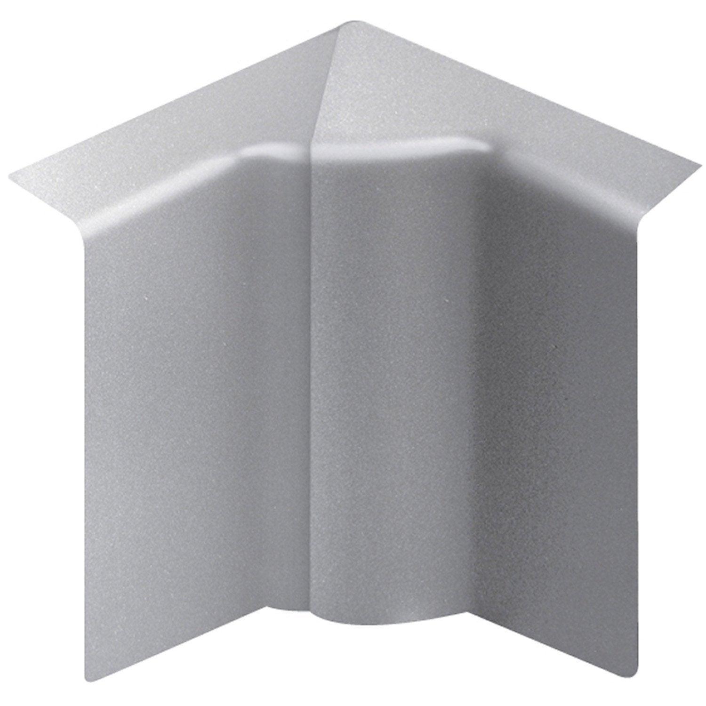 Angle int rieur aluminium pour plinthe h 10 x p 5 5 cm - Angle de plinthe de cuisine ...
