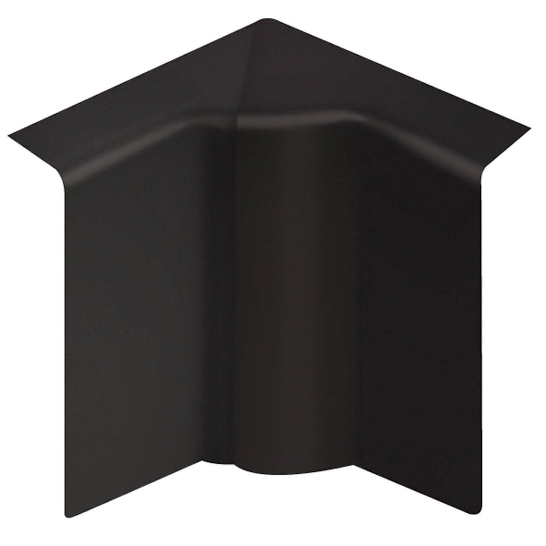 Angle int rieur pour plinthe en pvc noir leroy merlin for Couper des angles de plinthes