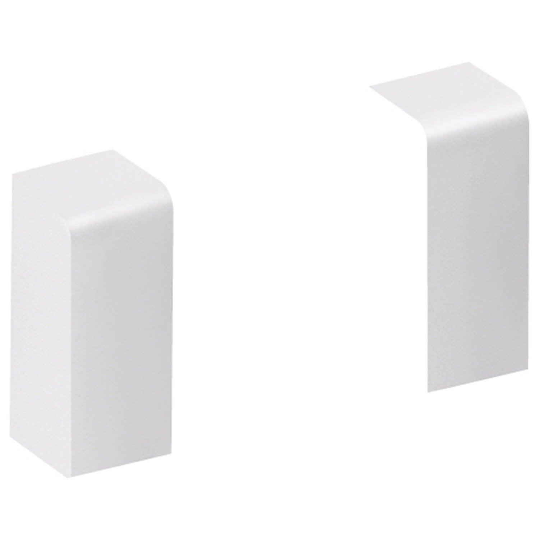 lot de 2 embouts jonctions pour plinthe en pvc blanc leroy merlin. Black Bedroom Furniture Sets. Home Design Ideas