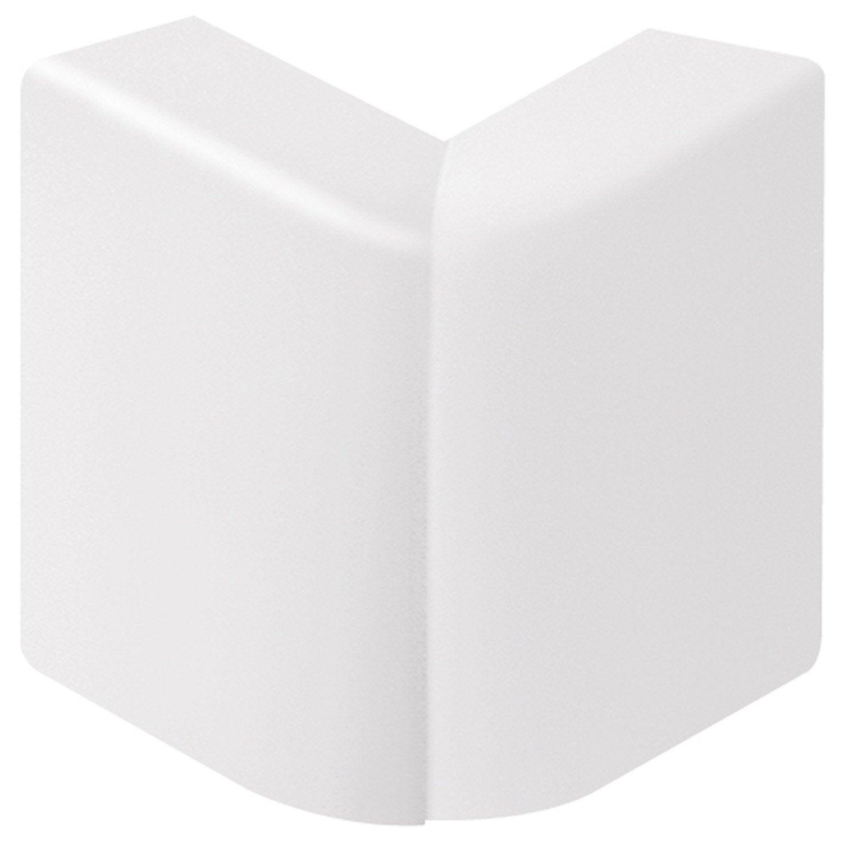 Angle ext rieur blanc pour plinthe h 10 x p 5 5 cm for Couper des angles de plinthes