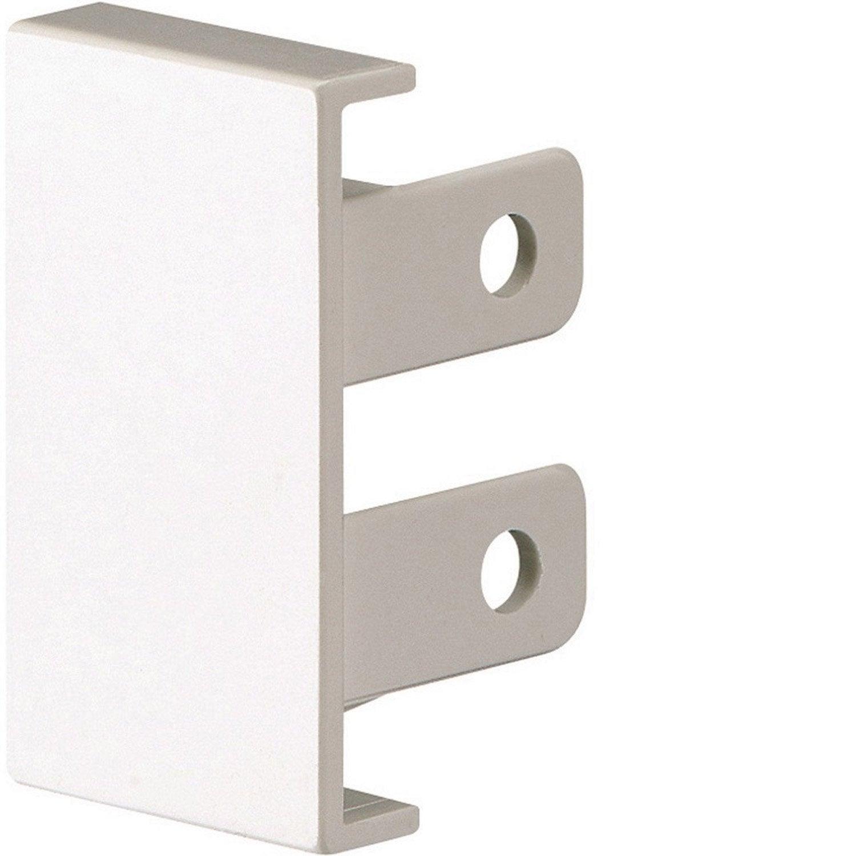 lot de 2 embouts blanc pour moulure h 2 8 x p 2 cm. Black Bedroom Furniture Sets. Home Design Ideas