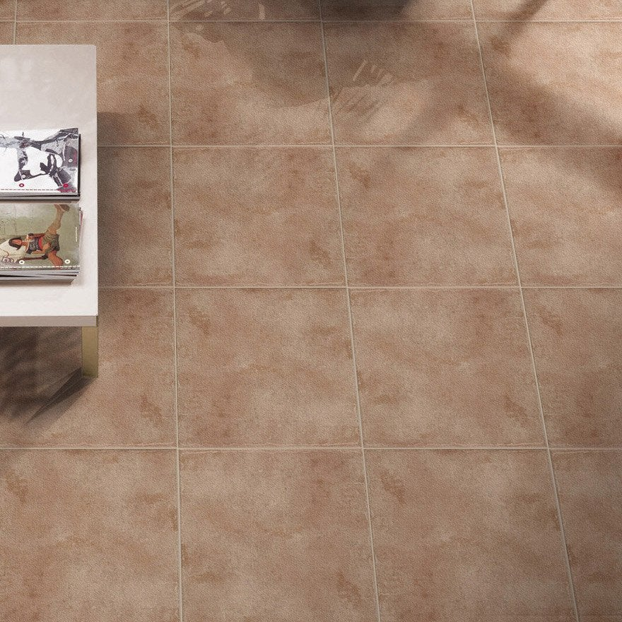Carrelage sol et mur cuir effet terre cuite gobi x for Carrelage terre cuite leroy merlin