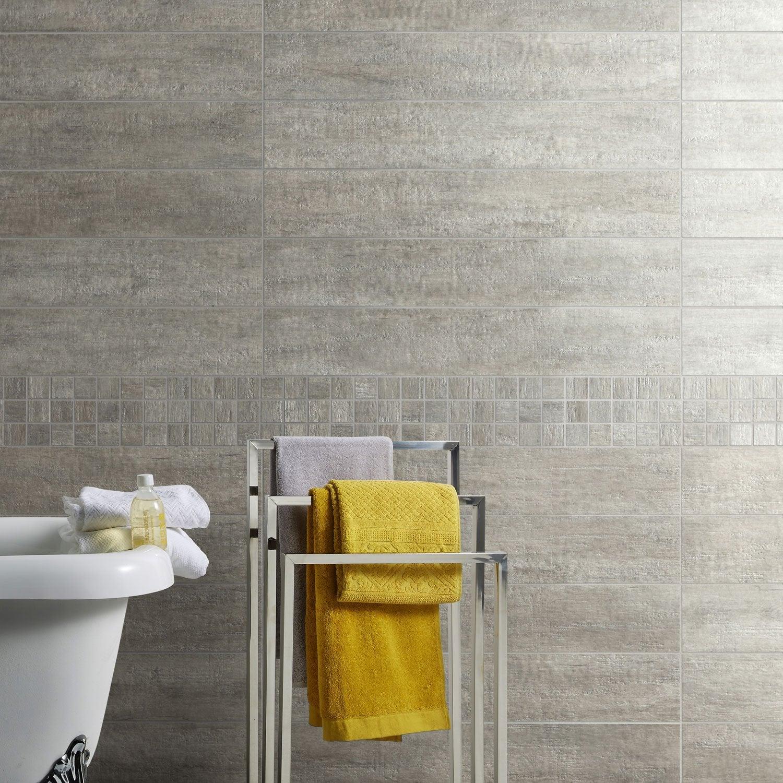 carrelage sol et mur gris taiga x cm leroy merlin. Black Bedroom Furniture Sets. Home Design Ideas