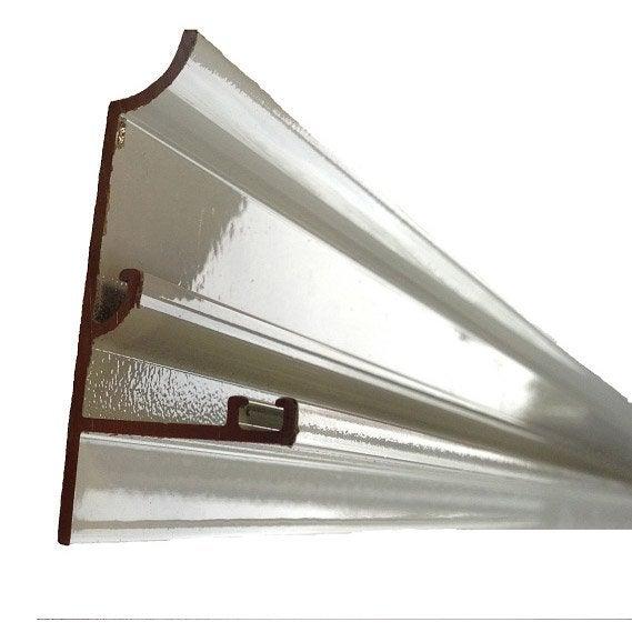 rive sur mesure pour plaque ep 16 mm aluminium l 0 5 m leroy merlin. Black Bedroom Furniture Sets. Home Design Ideas