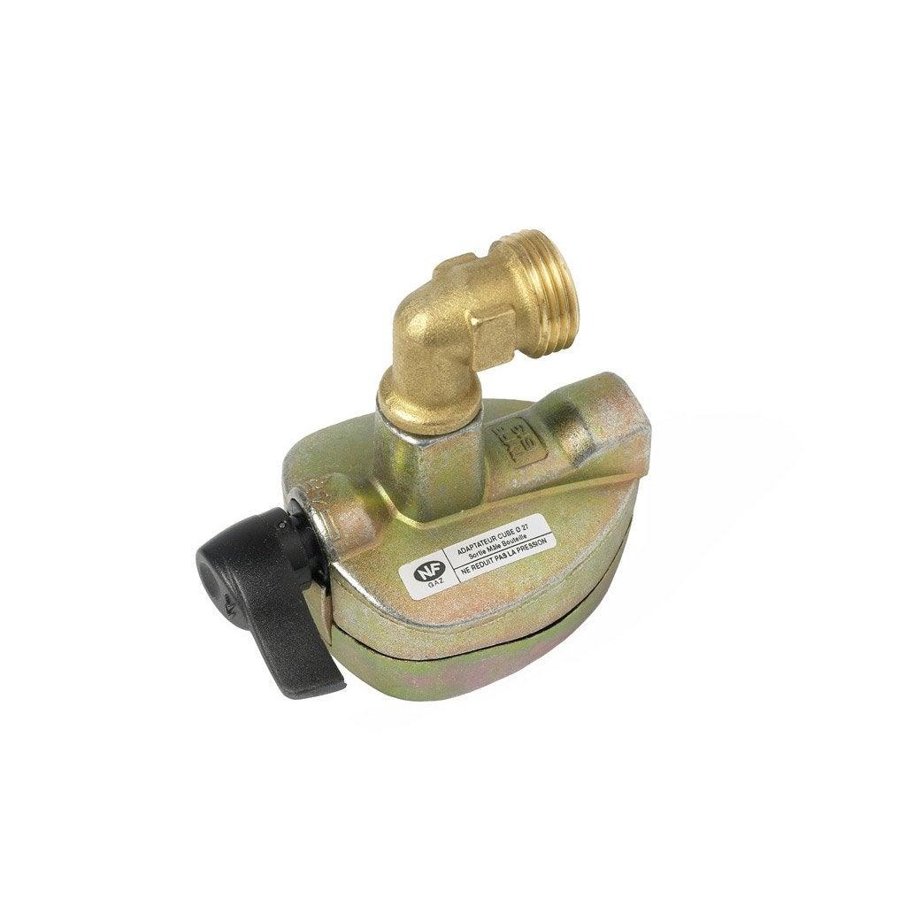 Robinet adaptateur gaz butane propane pour cube et viseo - Robinet de gaz cuisine ...