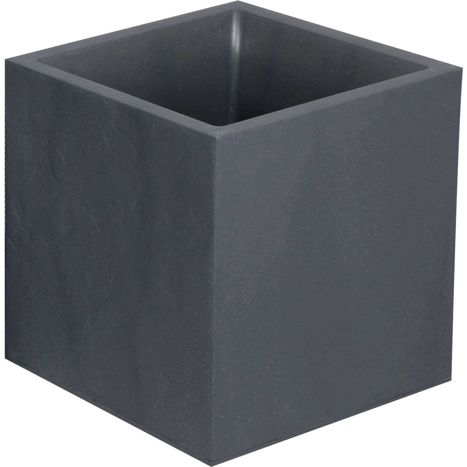 Bac plastique eda x x cm anthracite leroy for Pot lumineux leroy merlin
