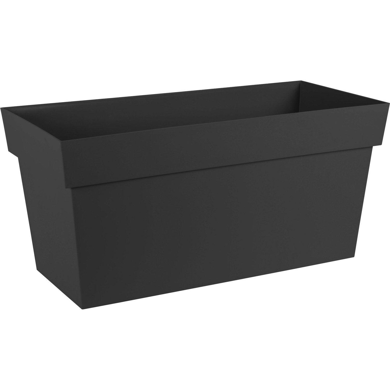 jardini re polypropyl ne r serve d 39 eau eda x x cm anthracite leroy merlin. Black Bedroom Furniture Sets. Home Design Ideas