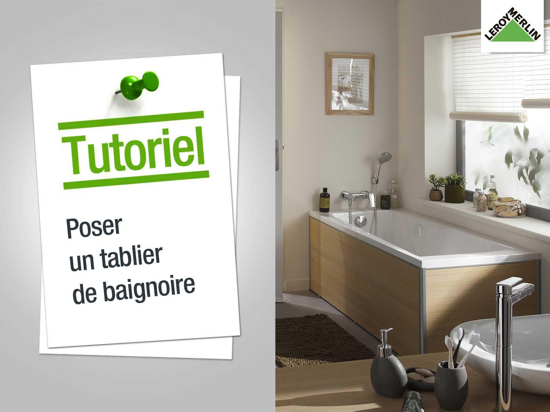 Baignoire salle de bain tablier - Comment faire un tablier de baignoire ...