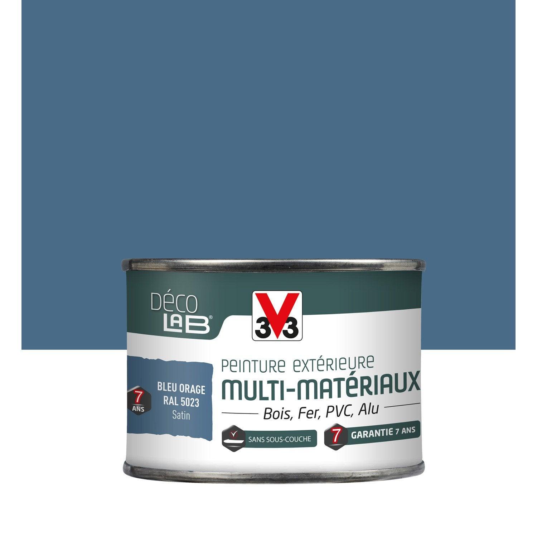 Peinture multimatériau extérieur V33, bleu orage, 0125 l