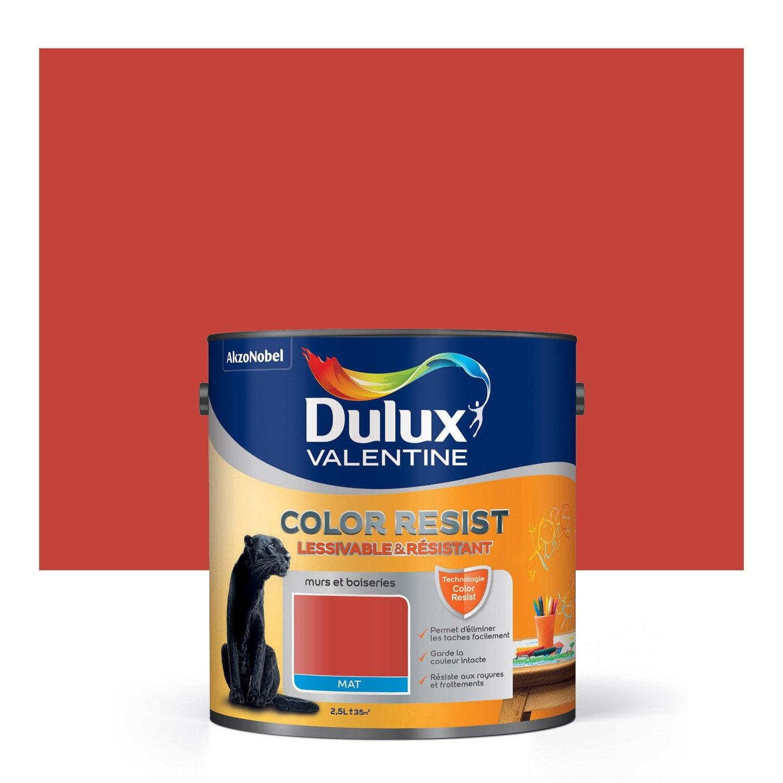 Peinture rouge feu dulux valentine color resist 2 5 l leroy merlin - Duluxvalentine com ...