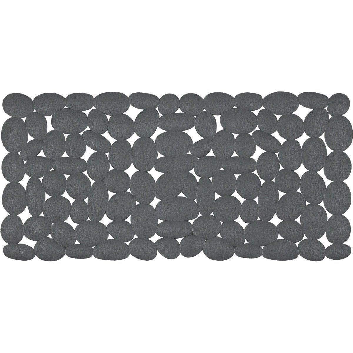 tapis antidrapant gris pour baignoire marathon - Tapis Salle De Bain Antiderapant