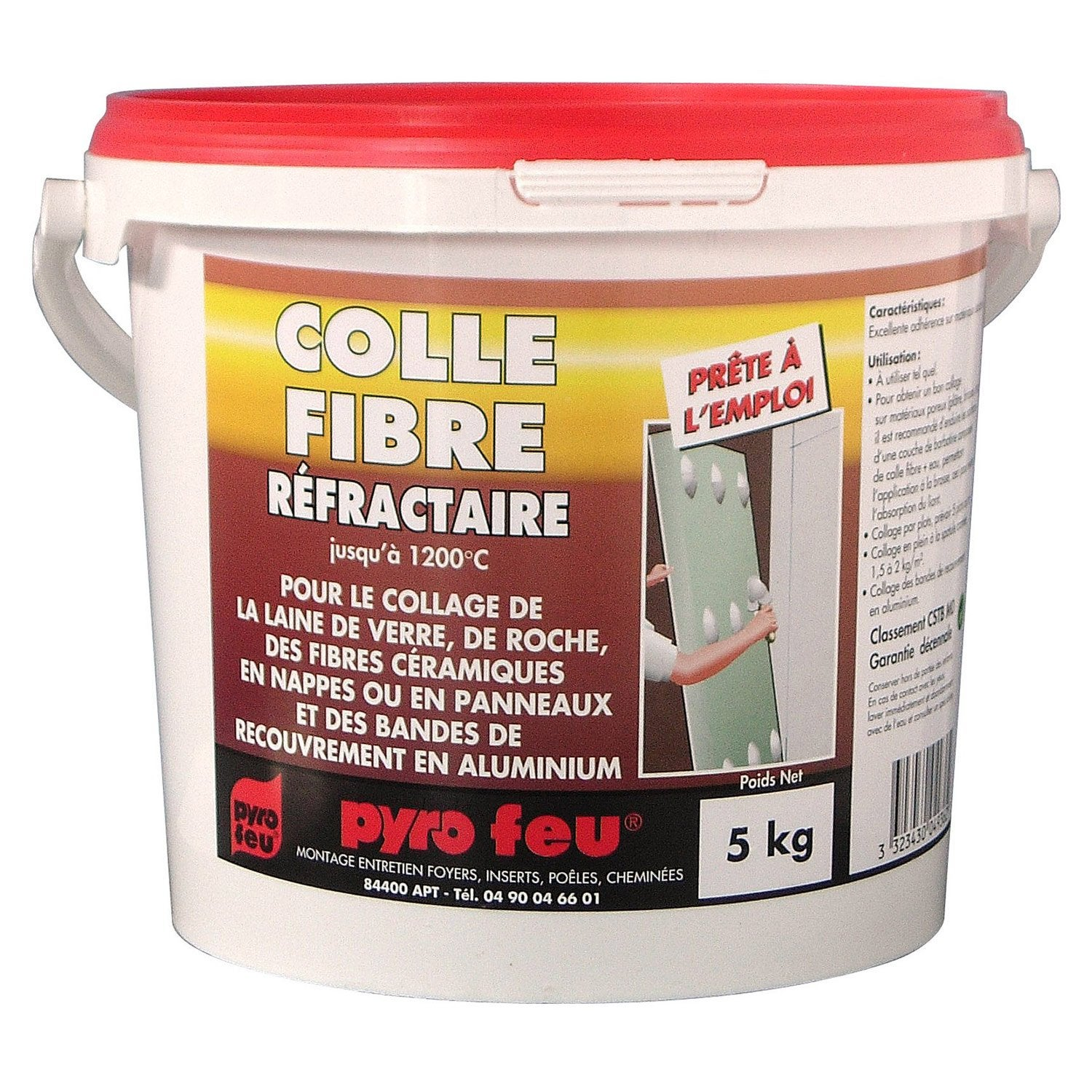 Colle r fractaire pyrofeu 5 kg leroy merlin for Colle carrelage exterieur leroy merlin
