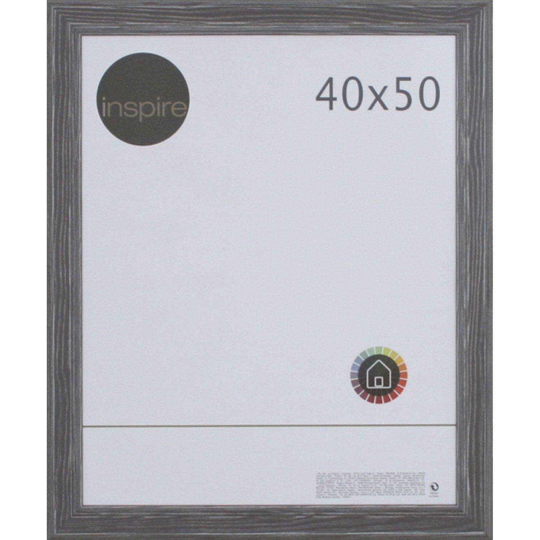 cadre areza 40 x 50 cm gris leroy merlin. Black Bedroom Furniture Sets. Home Design Ideas