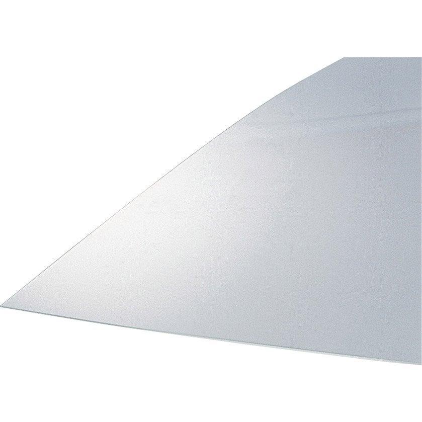 Plaque de verre synth tique lisse transparent anti uv 200x100cm p 2mm l - Toile de verre lisse leroy merlin ...