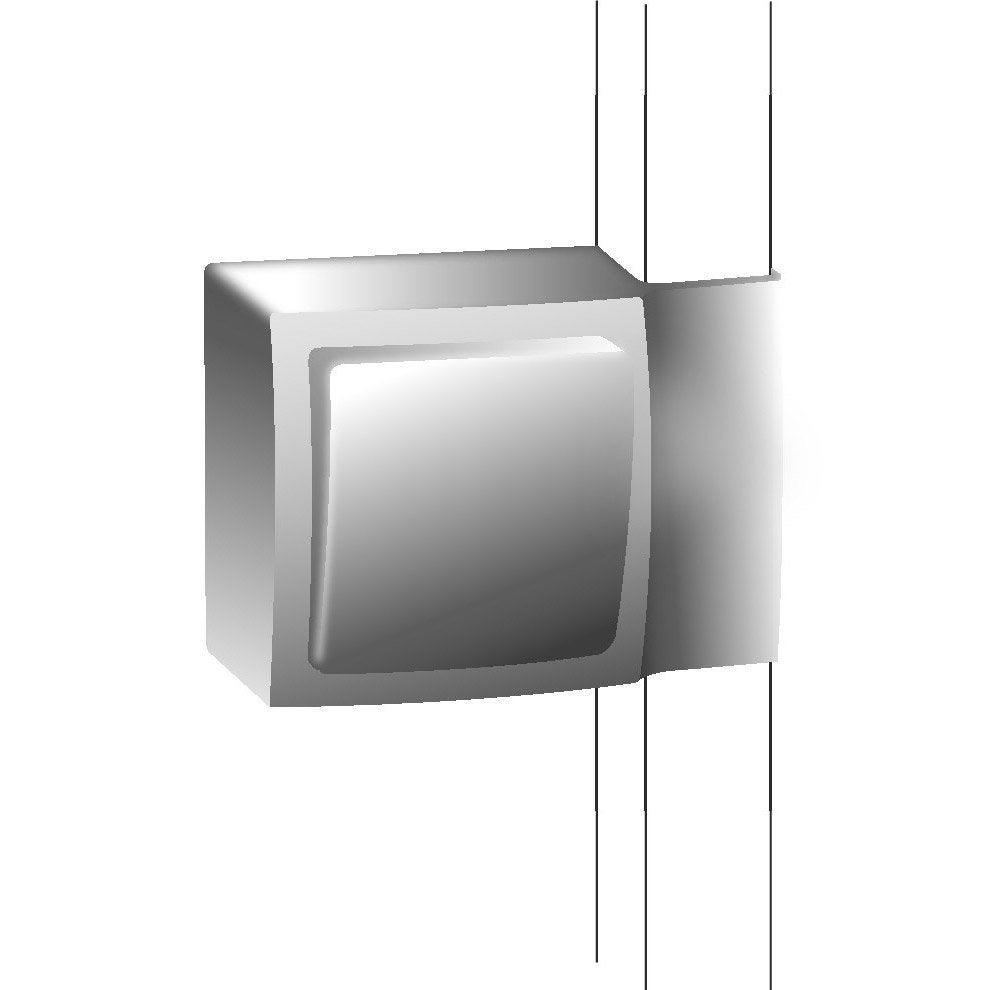adaptateur blanc pour moulure h 10 2 x p 4 3 cm leroy. Black Bedroom Furniture Sets. Home Design Ideas