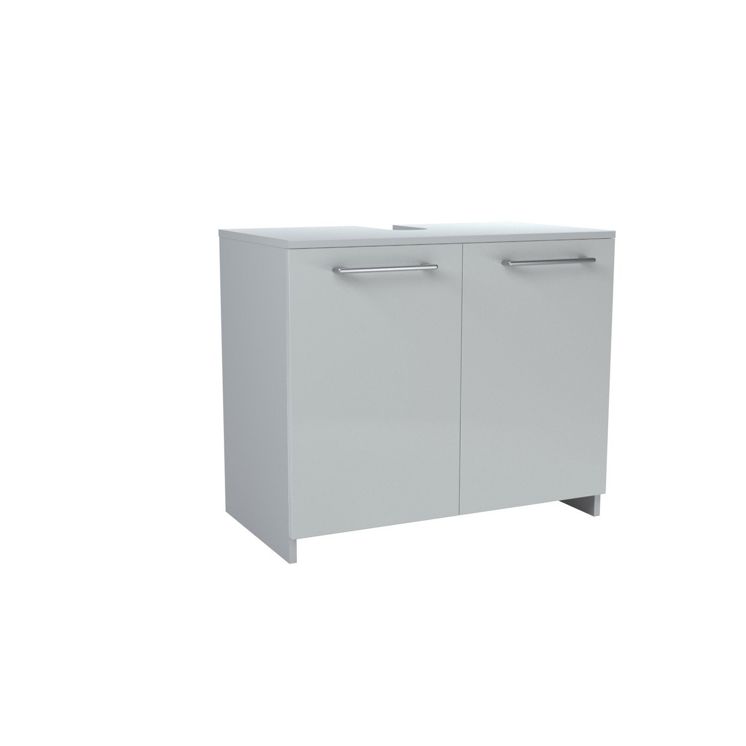 Caisson meuble sous lavabo sensea remix blanc blanc n 0 for Ensemble lavabo meuble leroy merlin