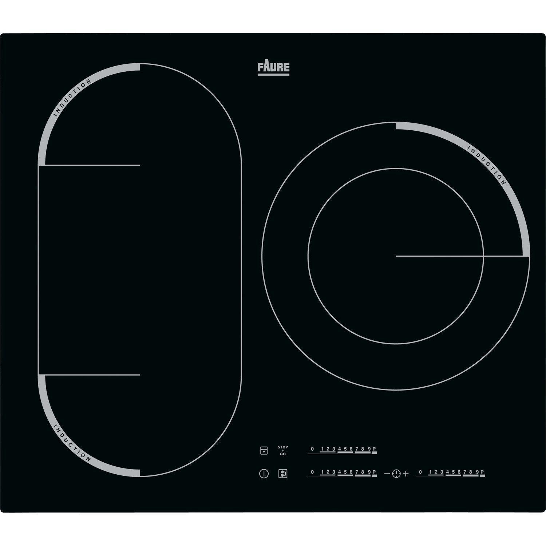 Plaque induction 3 foyers noir faure fem6732fba leroy merlin - Plaque induction 3 foyers ...