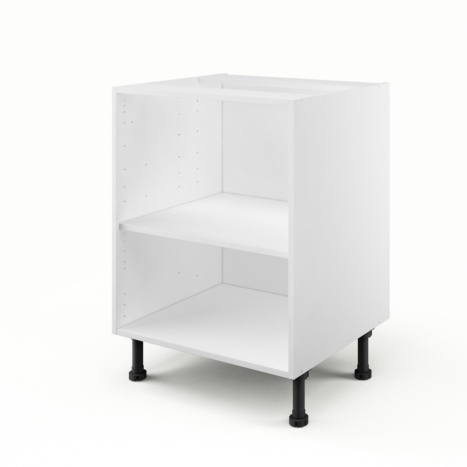 caisson de cuisine bas b60 delinia blanc x x p. Black Bedroom Furniture Sets. Home Design Ideas