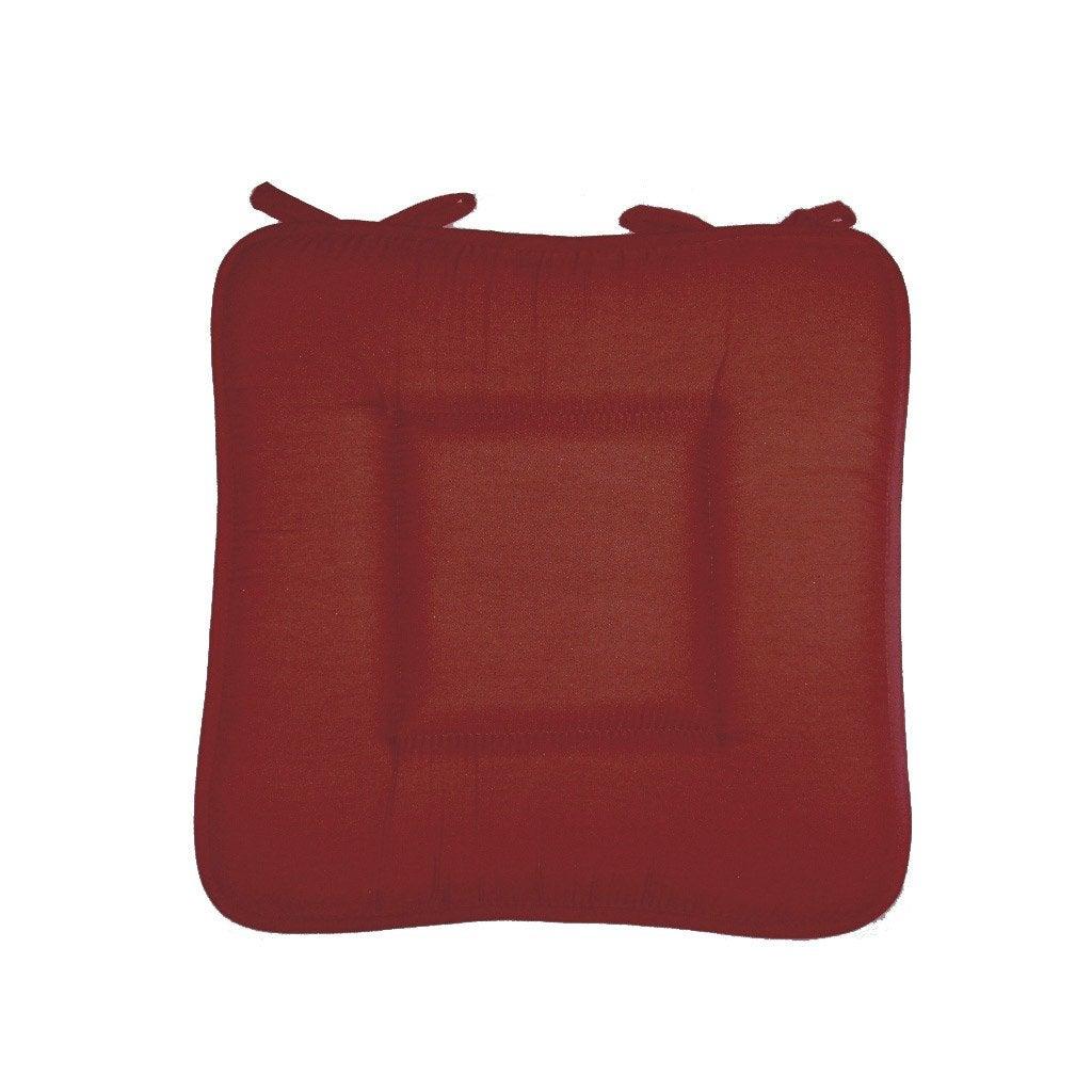 Galette de chaise bordeaux x x h 2 5 cm - Griffe de jardin leroy merlin bordeaux ...