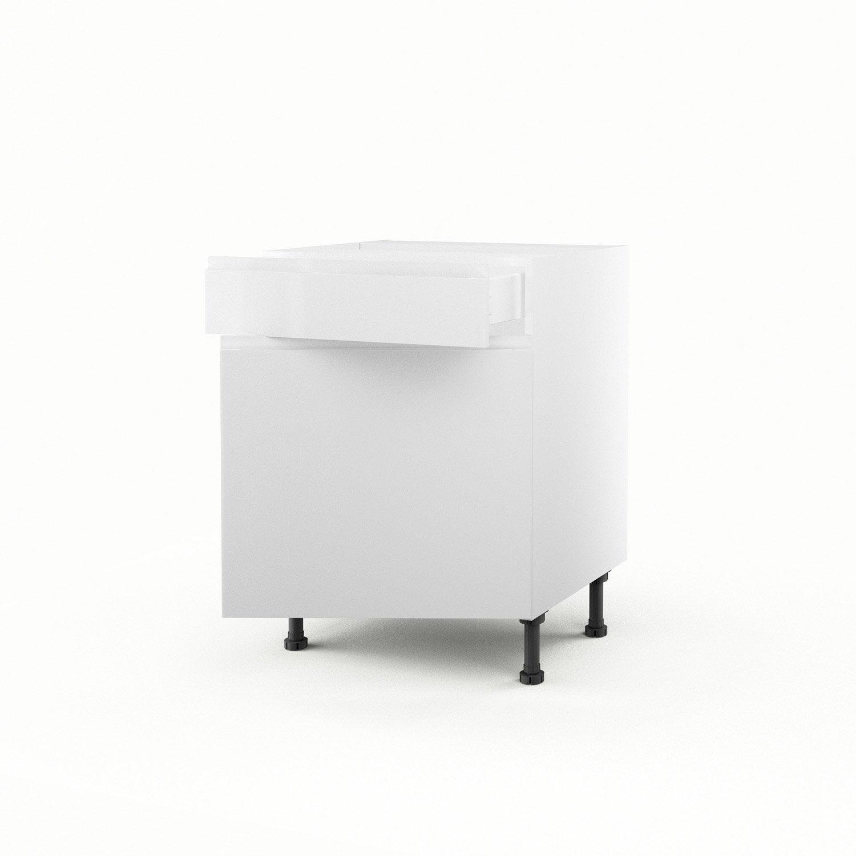 Meuble De Cuisine Bas Blanc 1 Porte 1 Tiroir Graphic H