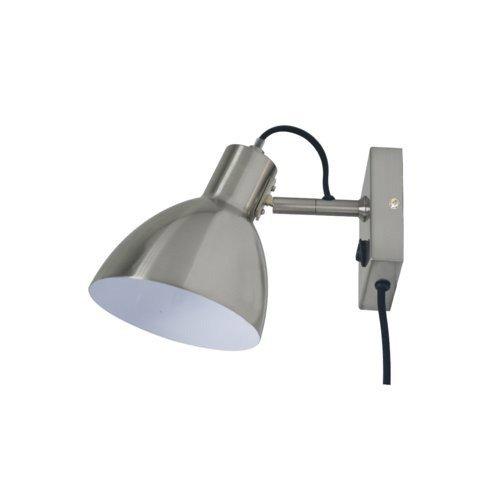 Applique design e27 Huvud métal Satin nickel, 1 INSPIRE | Leroy Merlin