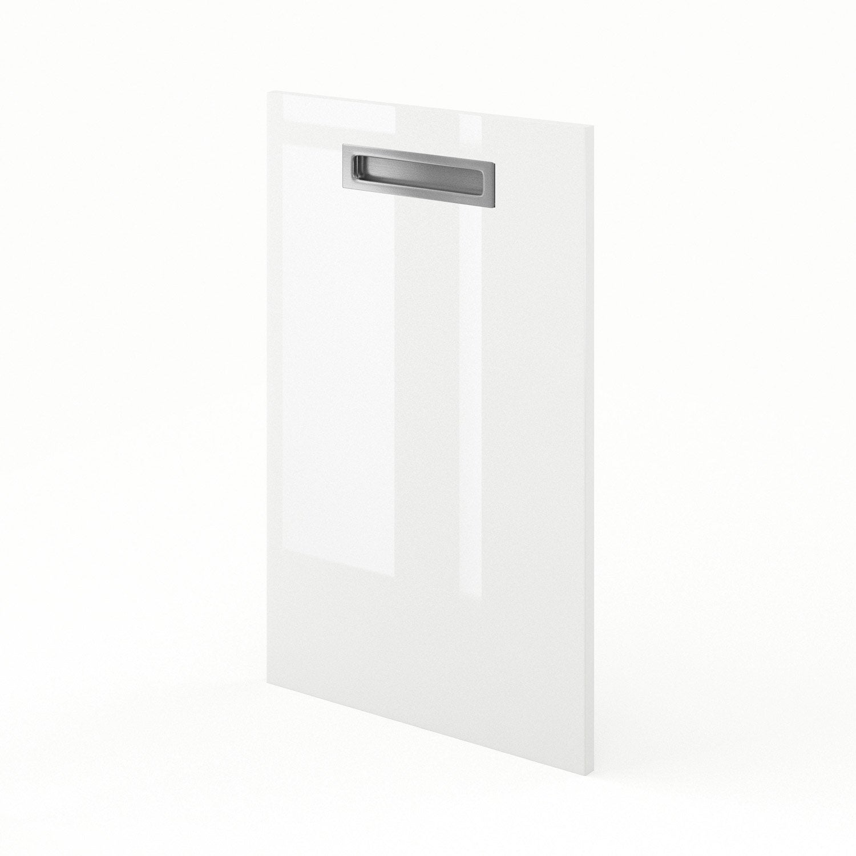 Porte de cuisine blanc play x cm leroy merlin for Porte 70 cm de large