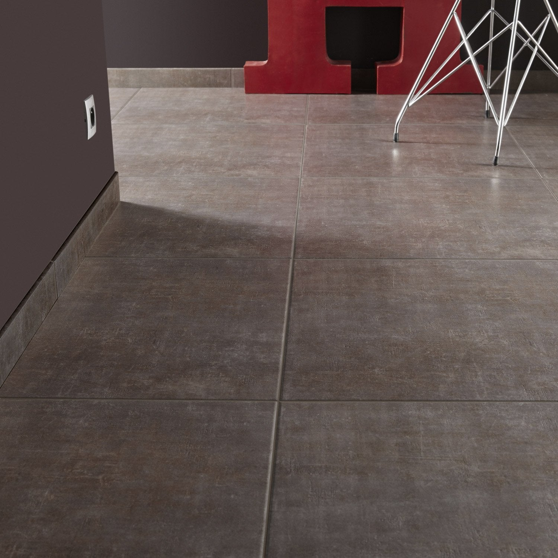 Carrelage sol et mur bronze effet b ton area x cm leroy merlin for Peinture carrelage sol v