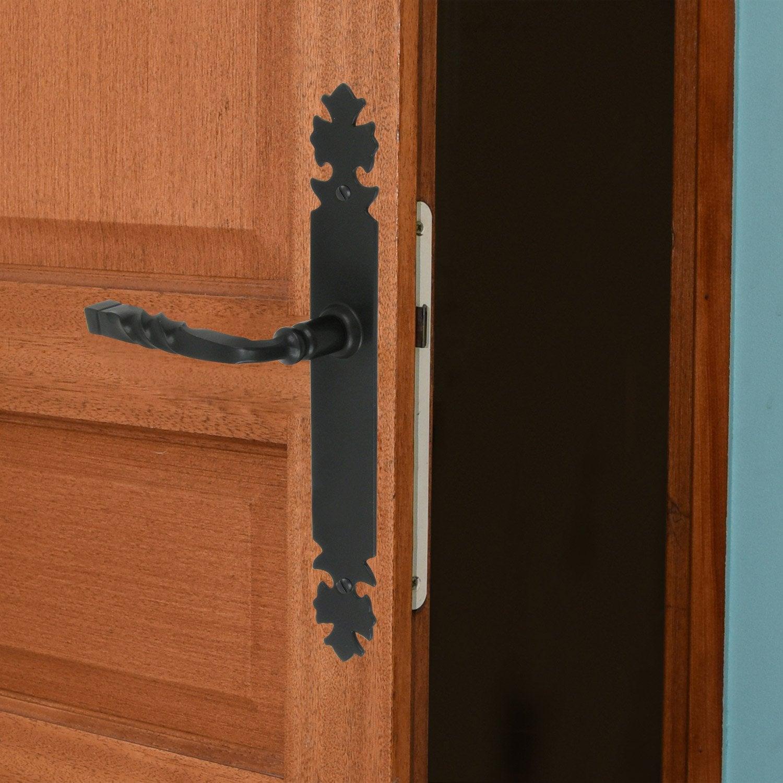 2 poign es de porte bourgogne sans trou fer 195 mm leroy merlin - Traverse de chemin de fer leroy merlin ...