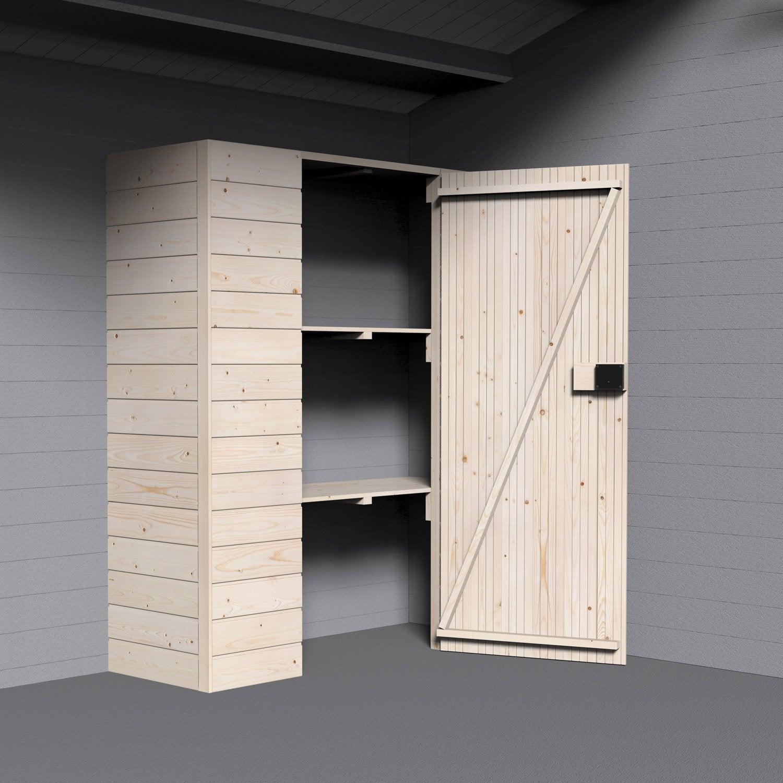 Armoire en bois decor et jardin x x cm for Sfere legno leroy merlin