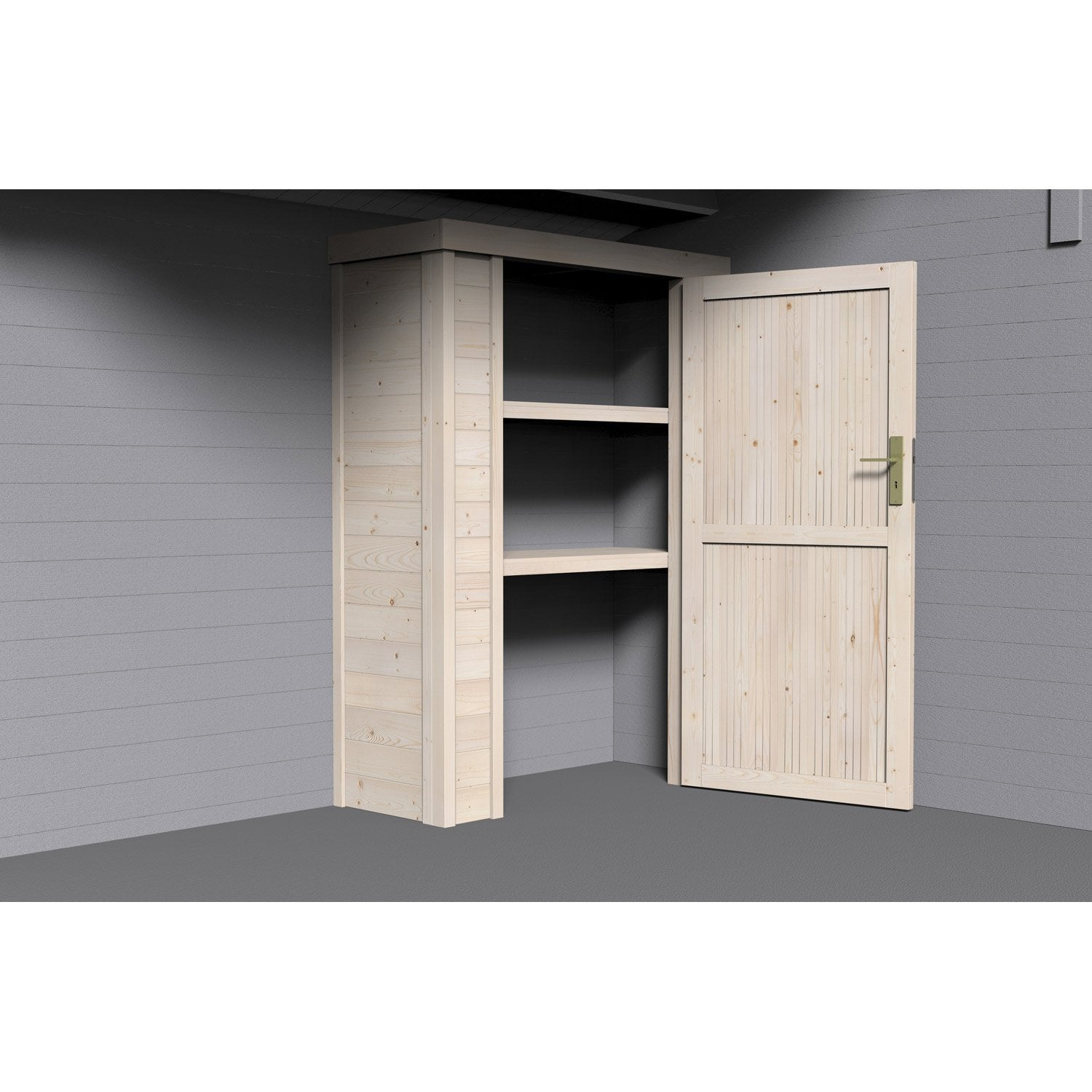 armoire en bois x x cm leroy merlin. Black Bedroom Furniture Sets. Home Design Ideas