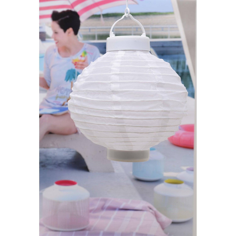 Lanterne solaire blanc leroy merlin for Lanterne leroy merlin