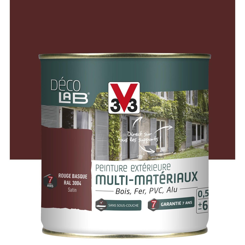 Peinture multimat riau ext rieur v33 rouge basque 0 5 l - Peinture v33 bois exterieur ...