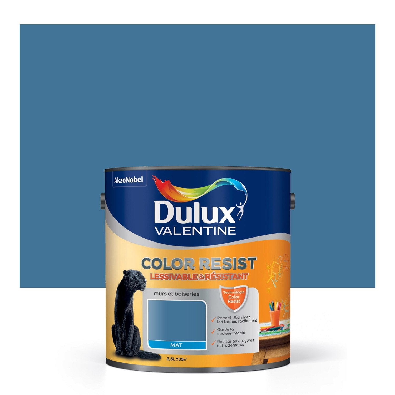 Peinture zinc bleu dulux valentine color resist 2 5 l leroy merlin - Dulux valentine color resist ...