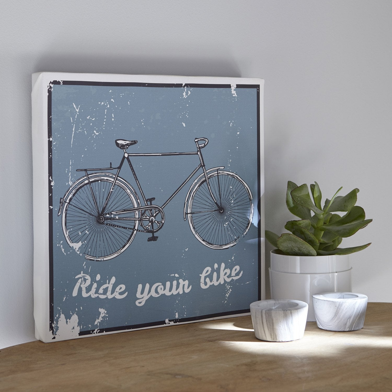 Toile imprim e bicyclette x cm leroy merlin - Bassins om leroy merlin te zetten ...
