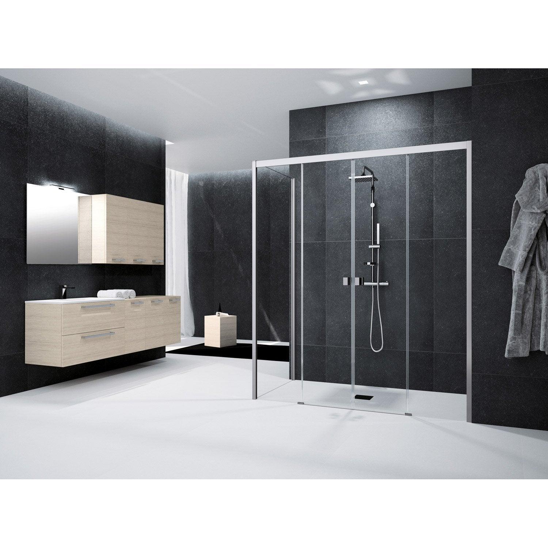 Porte de douche coulissante l 171 cm transparent n o - Leroy merlin porte de douche ...