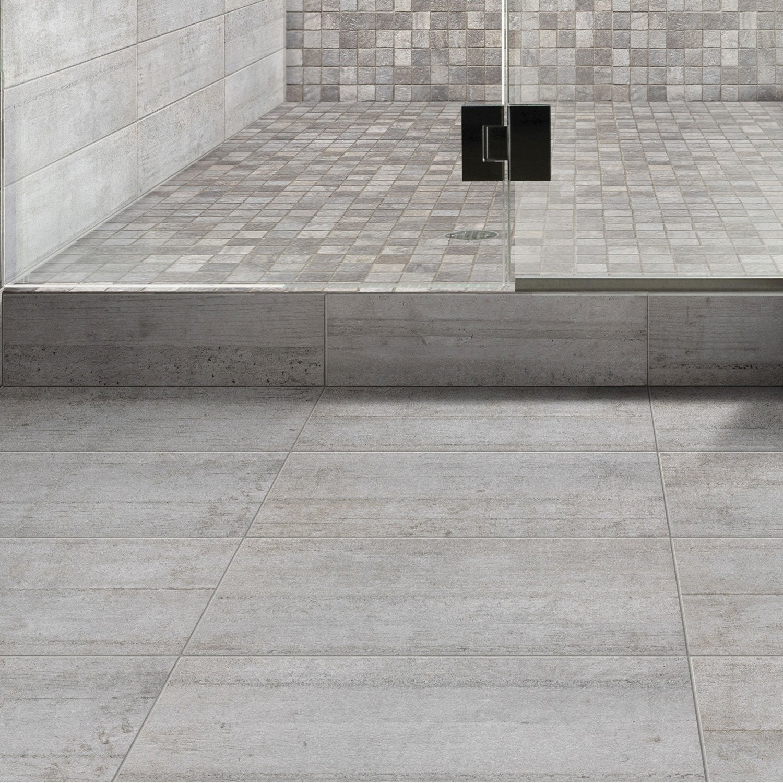 carrelage mural industry premium en gr s gris 15 x 60 cm leroy merlin. Black Bedroom Furniture Sets. Home Design Ideas