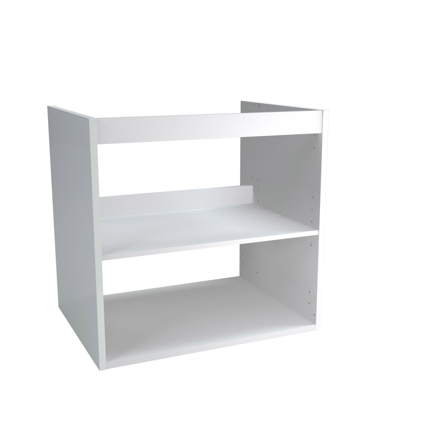 Caisson meuble sous vasque x x cm blanc for Mobile remix leroy merlin