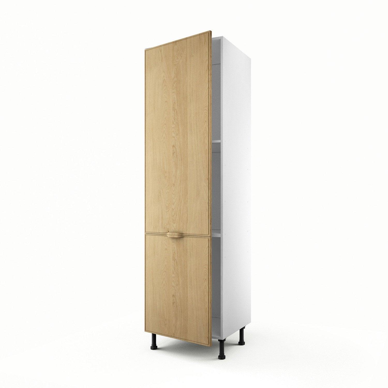 Meuble de cuisine colonne ch ne 1 porte origine x l for Porte 60 x 200