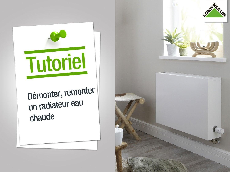 comment démonter et remonter un radiateur eau chaude ? | leroy merlin - Comment Peindre Un Radiateur En Fonte
