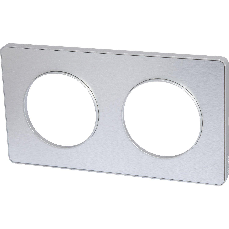 plaque odace schneider electric aluminium bross 233 bross 233 leroy merlin