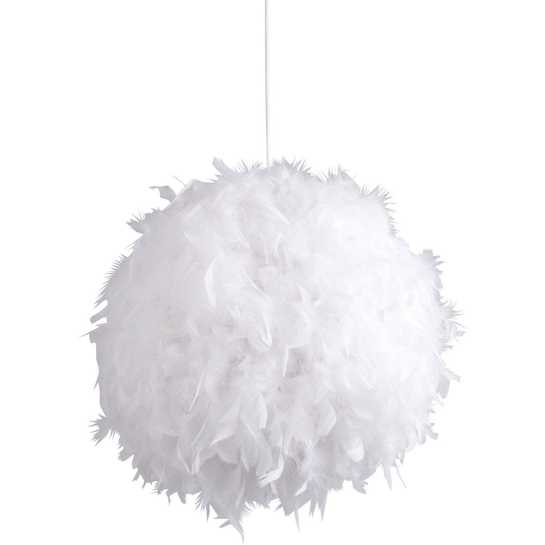 Suspension mini kokot corep blanc 11 watts diam 40 cm leroy merlin - Abat jour suspension leroy merlin ...