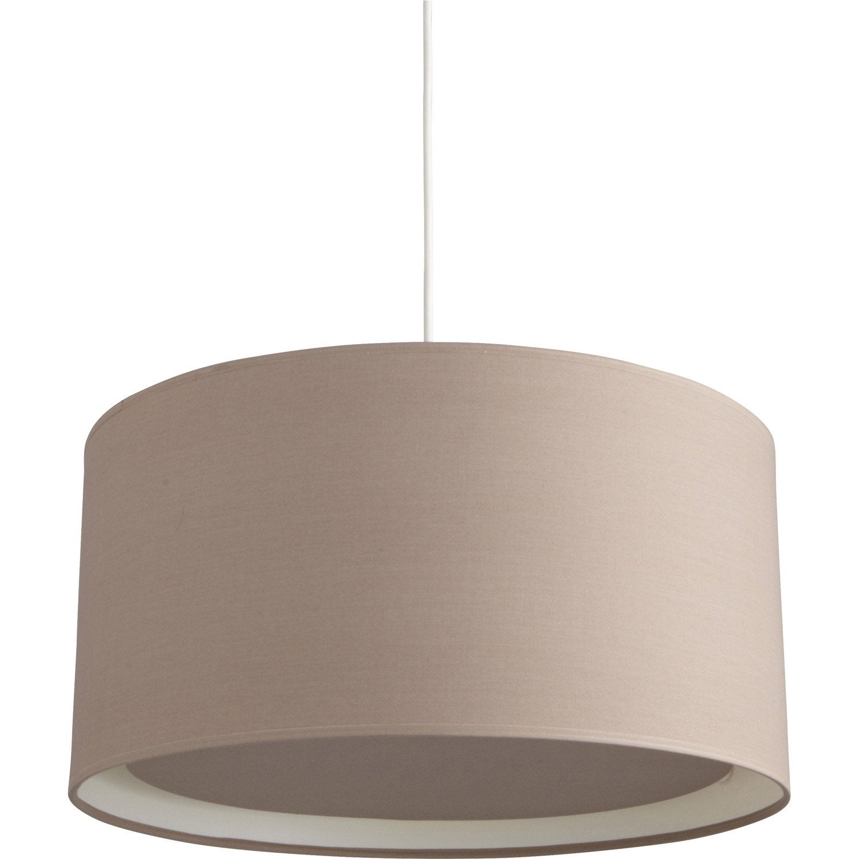 suspension essentiel inspire brun taupe n 3 60 watts diam 39 cm leroy merlin. Black Bedroom Furniture Sets. Home Design Ideas