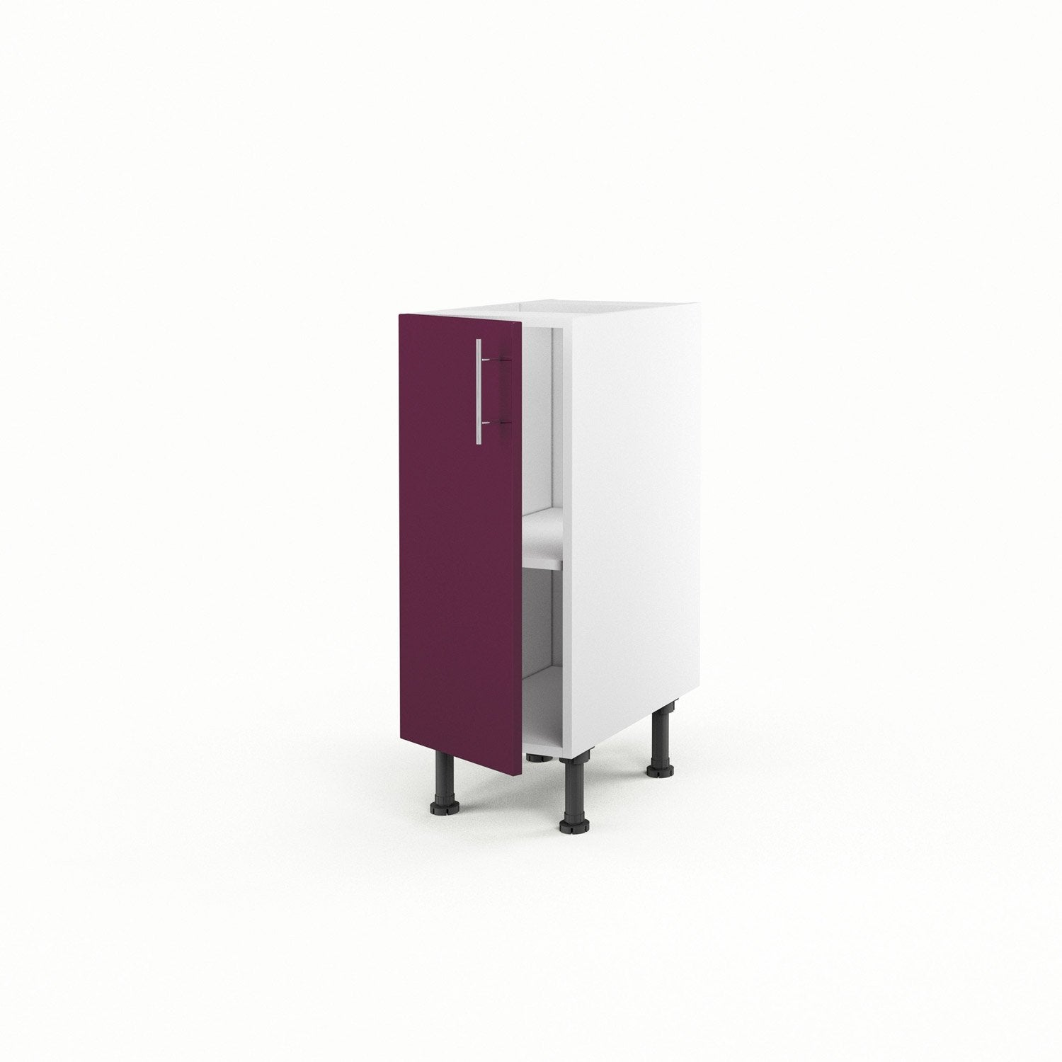 meuble de cuisine bas violet 1 porte rio x x cm leroy merlin. Black Bedroom Furniture Sets. Home Design Ideas