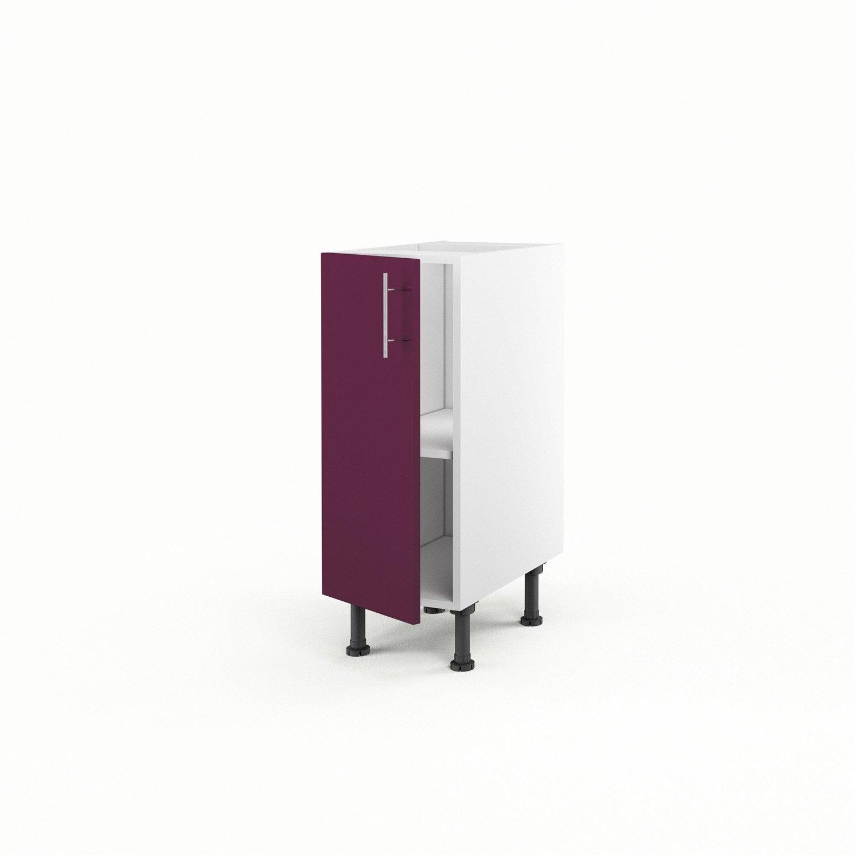 Meuble de cuisine bas violet 1 porte rio x x p - Meuble cuisine bas 30 cm ...