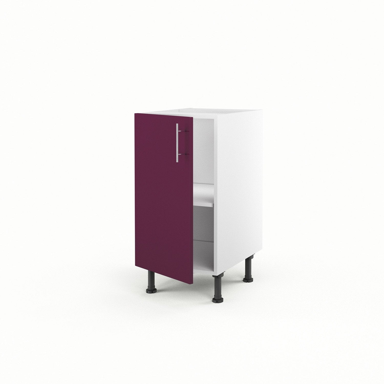 meuble de cuisine bas violet 1 porte rio x x cm leroy merlin. Black Bedroom Furniture Sets. Home Design Ideas