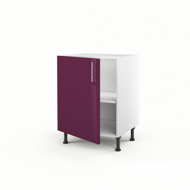 Meuble de cuisine bas violet 1 porte rio x x p for Porte meuble cuisine leroy merlin