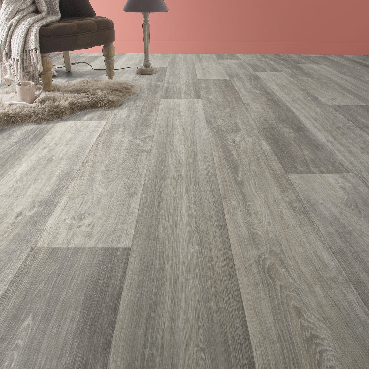 sol pvc gris hudson perle gerflor texline l 4 m leroy merlin. Black Bedroom Furniture Sets. Home Design Ideas