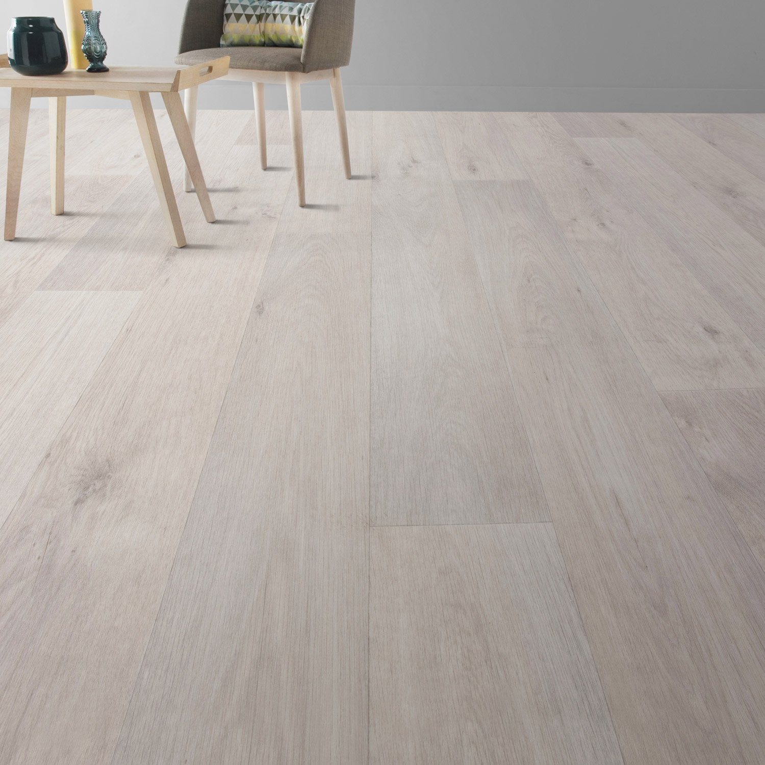 Sol pvc blanc timber gerflor texline hqr l 4 m leroy merlin - Revetement sol pvc ...