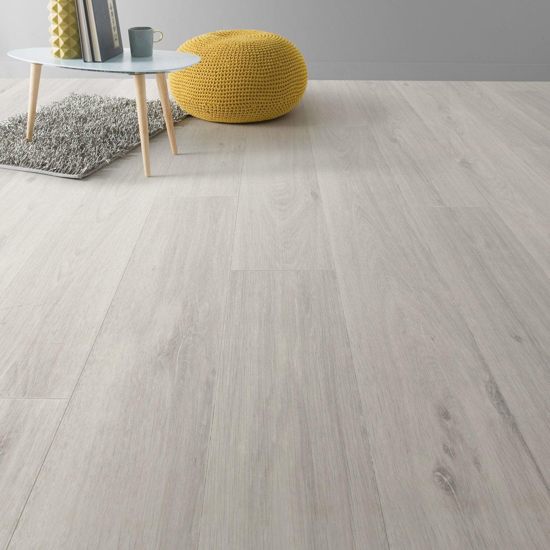Sol pvc noma blanc artens textile l 4 m leroy merlin - Comment poser vinyle sol ...