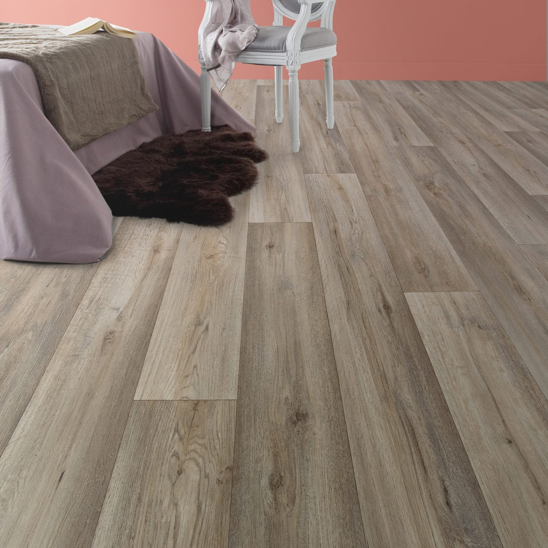 sol vinyle aero silk oak taupe 4 m leroy merlin. Black Bedroom Furniture Sets. Home Design Ideas